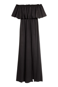 Langes Off-Shoulder-Kleid