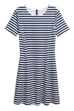Jersey dress - Dark blue/Striped - Ladies | H&M 2
