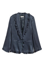 Frilled jacket - Dark blue - Ladies | H&M CN 2
