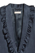 Frilled jacket - Dark blue - Ladies | H&M CN 3