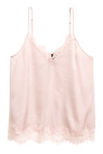 Satin strappy top - Light pink - Ladies | H&M 3