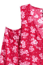Cold shoulder blouse - Red/Floral - Ladies | H&M CN 3