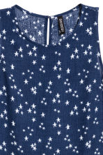 Crinkled top - Dark blue/Stars - Ladies | H&M CN 3