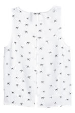 Crinkled top - White/Swallows - Ladies | H&M CN 3