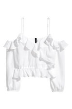 Off-the-shoulder blouse - White - Ladies | H&M GB 2