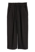 Culottes with frills - Black - Ladies | H&M CN 2