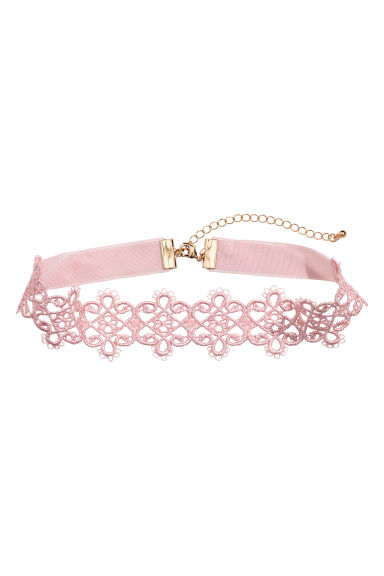 Lace choker - Light pink - Ladies | H&M 1
