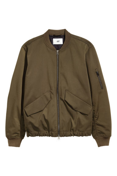Padded bomber jacket - Khaki brown -  | H&M