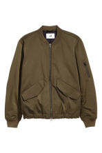 Padded bomber jacket - Khaki brown - Men | H&M 1