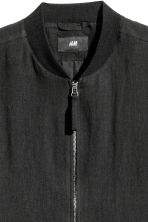 Linen bomber jacket - Black - Men | H&M 3