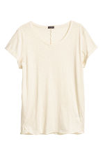 Slub jersey T-shirt - Natural white - Men | H&M CN 2