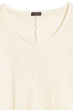 Slub jersey T-shirt - Natural white - Men | H&M CN 3