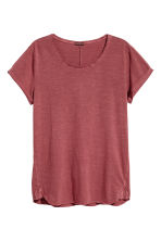 Slub jersey T-shirt - Brick red - Men | H&M CN 2