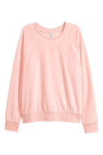 Sweatshirt i velour - Puderrosa - Ladies | H&M FI 2