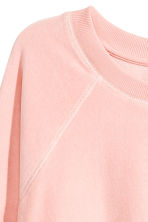 Sweatshirt i velour - Puderrosa - Ladies | H&M FI 3