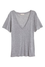 Silk-blend top - Grey marl - Ladies | H&M 2