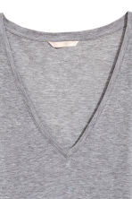 Silk-blend top - Grey marl - Ladies | H&M 3