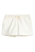 Lace shorts - Natural white - Kids | H&M 1