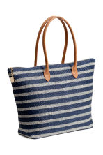 Shopper - Dark blue/Striped - Ladies | H&M 2