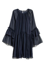 Chiffon dress - Dark blue - Ladies | H&M CN 2