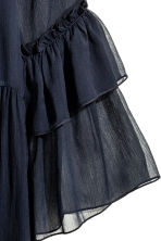 Chiffon dress - Dark blue - Ladies | H&M CN 3