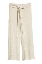 Pinstriped trousers - Natural white/Striped -  | H&M 2
