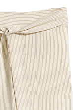 Pinstriped trousers - Natural white/Striped -  | H&M 3