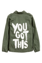 Cargo jacket - Khaki green - Kids | H&M 3
