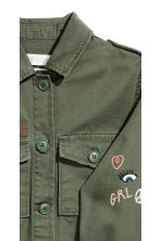 Cargo jacket - Khaki green - Kids | H&M 4