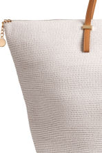 Straw shopper - Natural white - Ladies | H&M 3