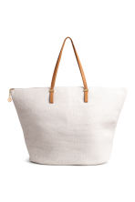 Straw shopper - Natural white - Ladies | H&M 1
