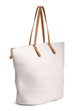 Straw shopper - Natural white - Ladies | H&M 2