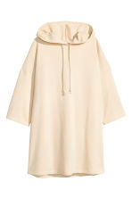 Hooded sweatshirt dress - Light beige - Ladies | H&M 2