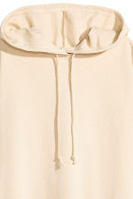 Hooded sweatshirt dress - Light beige - Ladies | H&M 3