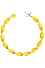 Twisted hoop earrings - Yellow - Ladies | H&M 2