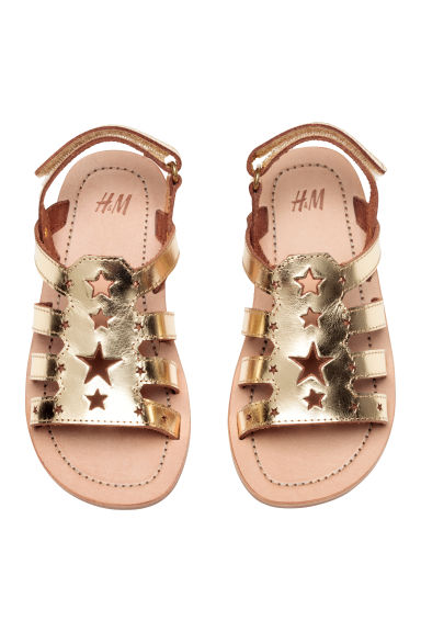 Leather sandals - Gold - Kids | H&M 1