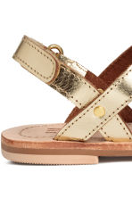 Leather sandals - Gold -  | H&M 4