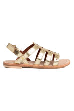 Leather sandals - Gold -  | H&M 2