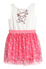 Dress with a tulle skirt - White/Hello Kitty - Kids | H&M 2