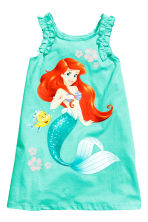 Sleeveless printed dress - Turquoise/The Little Mermaid - Kids | H&M CN 2