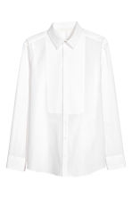 Cotton bib shirt - White -  | H&M 2
