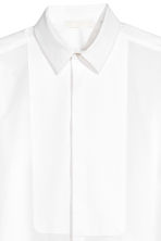 Cotton bib shirt - White -  | H&M 4