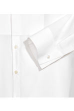 Cotton bib shirt - White -  | H&M 3