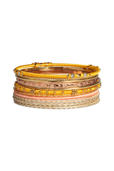 11-pack bangles - Gold - Ladies | H&M 1