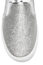 Glittery slip-on trainers - Silver - Kids | H&M CN 3