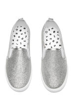 Glittery slip-on trainers - Silver - Kids | H&M CN 2