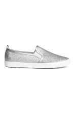 Glittery slip-on trainers - Silver - Kids | H&M CN 1