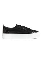Trainers - Black/Glitter - Ladies | H&M 1