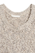 Knitted top - Light beige marl - Ladies | H&M 3
