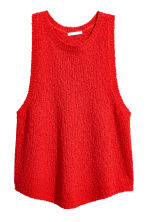 Knitted top - 红色 - Ladies | H&M CN 2